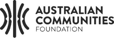 Australian Communities Foundation logo.